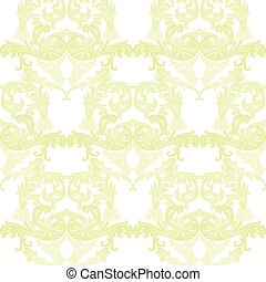 Vintage Baroque ornament pattern. Vector Luxury damask...