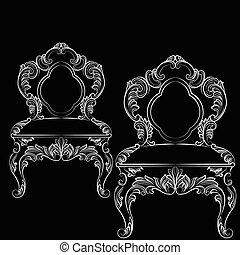 Baroque luxury style chair. Elegant furnishing with...
