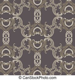 Vintage Luxury ornament pattern. Vector Baroque damask...