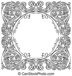 Vintage Imperial Baroque Round frame. Vector French Luxury...