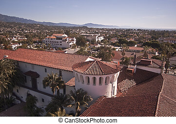 Downtown Santa Barbara - View of downtown Santa Barbara...