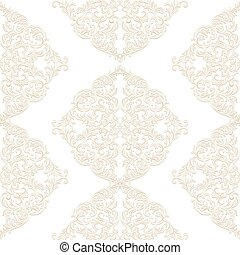 Vintage Baroque ornament pattern. Vector damask decor. Royal...