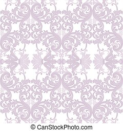 Vintage Rococo ornament pattern. Vector damask decor. Royal...