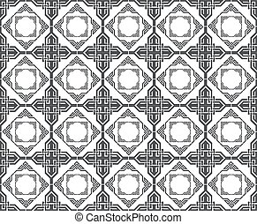 Vintage Retro floral ornament pattern. Vector abstract decor...
