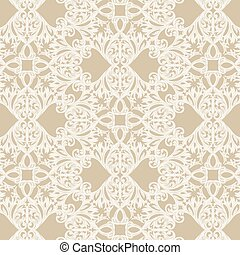 Vintage Baroque Rococo ornament pattern. Vector damask...