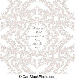 Vintage Baroque ornament card