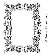 Vintage Imperial Baroque Rococo frame - aristocracy,...
