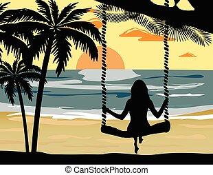 Summer Sunset Beach