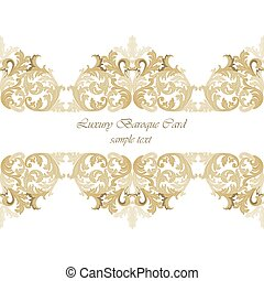 Vintage Invitation Card or banner with ornaments