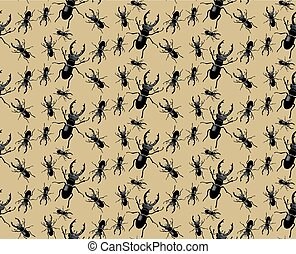 Bug pattern Vector background