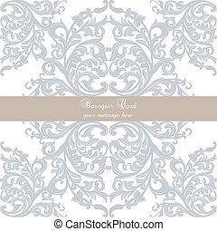 Vintage Invitation Card with ornaments - Vintage Invitation...