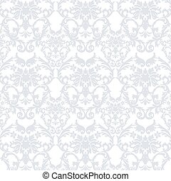 Vector Baroque Vintage floral Damask pattern. Luxury Classic...