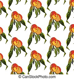 Fresh peaches pattern