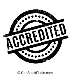 Accredited rubber stamp. Grunge design with dust scratches....