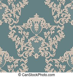 Baroque Luxury Ornament lace decorated. Vector Vintage...