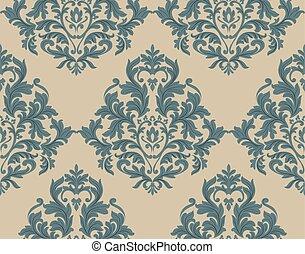 Baroque ornament floral pattern - Vintage Damask Baroque...