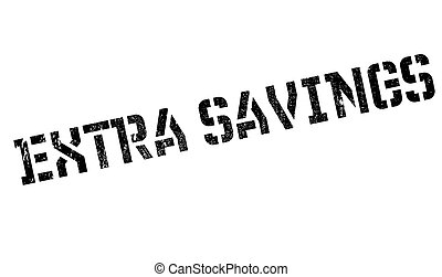 Extra Savings rubber stamp. Grunge design with dust...