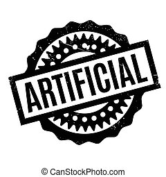Artificial rubber stamp. Grunge design with dust scratches....