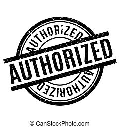 Authorized rubber stamp. Grunge design with dust scratches....