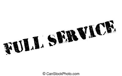 Full Service rubber stamp. Grunge design with dust...