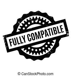 Fully Compatible rubber stamp. Grunge design with dust...