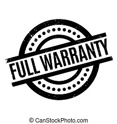 Full Warranty rubber stamp. Grunge design with dust...