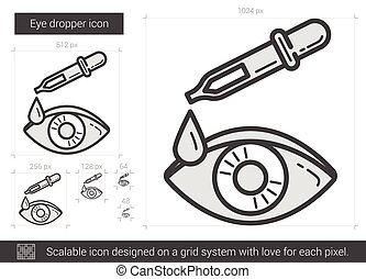 Eye dropper line icon. - Eye dropper vector line icon...