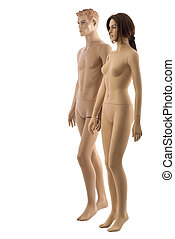 Pair of mannequins | Isolated - Male and female mannequins...