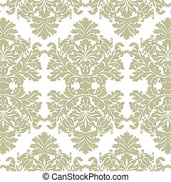 Vintage Imperial Baroque ornament pattern. Vector damask...