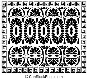 Greek pattern ornament. Ancient Hellenic decor. Vector...