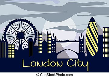 London city silhouette