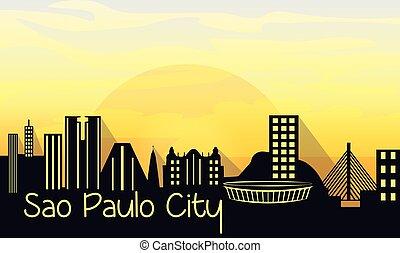 Sao Paulo City Silhouette
