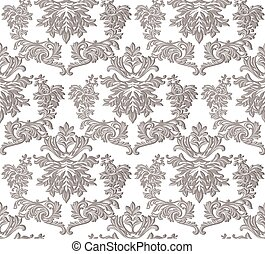 Vintage Baroque ornament engraving floral pattern