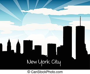 New York city silhouette