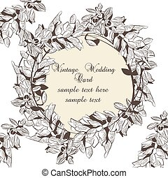 Vintage Wreath Floral Invitation card