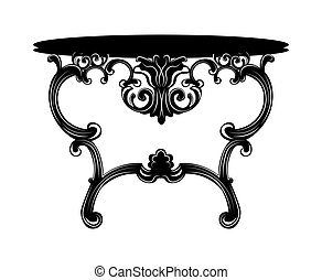 Rich Baroque commode Table. French Luxury rich carved...
