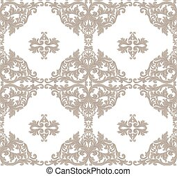 Vintage Baroque ornament floral pattern. Vector Retro...