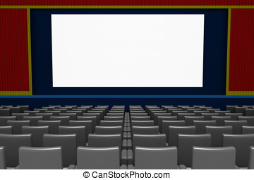 empty movie theater blank screen