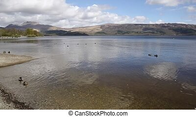 Loch Lomond Scotland UK The Trossachs National Park in...