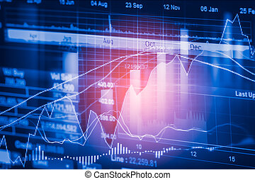 Stock market indicator and financial data view from LED....