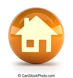 house icon - little orange icon with a house