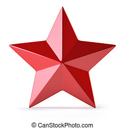 Red star isolated on white - 3d Red star isolated on white...