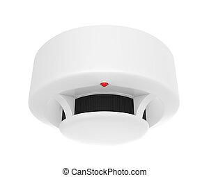Smoke Detector Isolated - Smoke Detector isolated on white...
