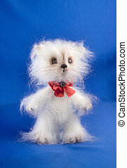 Soft toy cat handwork