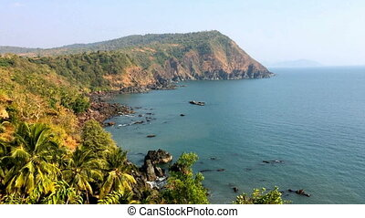 India. Goa. Sea landscape. - India Goa Sea landscape in a...