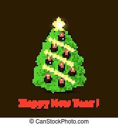 Christmas tree and baseball balls