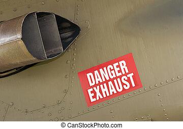 danger exhaust sign