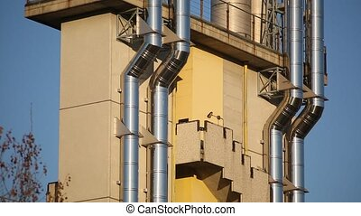 particular of an industrial building - view of a portion of...