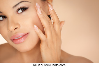 Spa Concept With Tanned Beauty - Spa concept with tanned...
