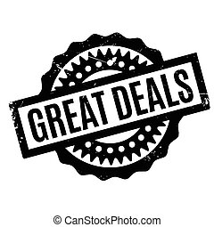 Great Deals rubber stamp. Grunge design with dust scratches....